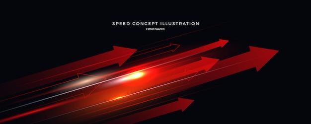 Ilustración de velocidad, fondo rápido