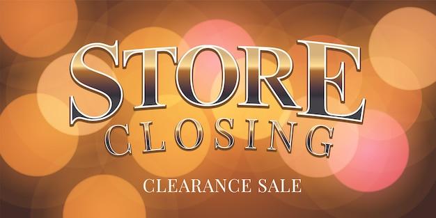 Ilustración de venta de cierre de tienda, fondo
