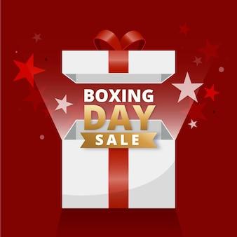 Ilustración de venta de día de boxeo degradado