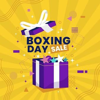 Ilustración de venta de día de boxeo plana