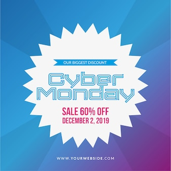 Ilustración de venta de lunes cibernético