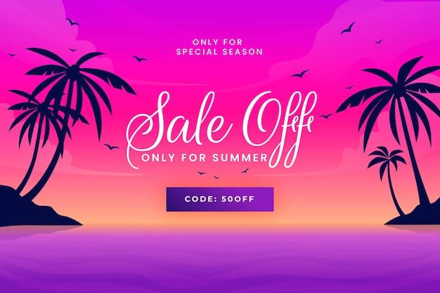 Ilustración de venta de verano degradado