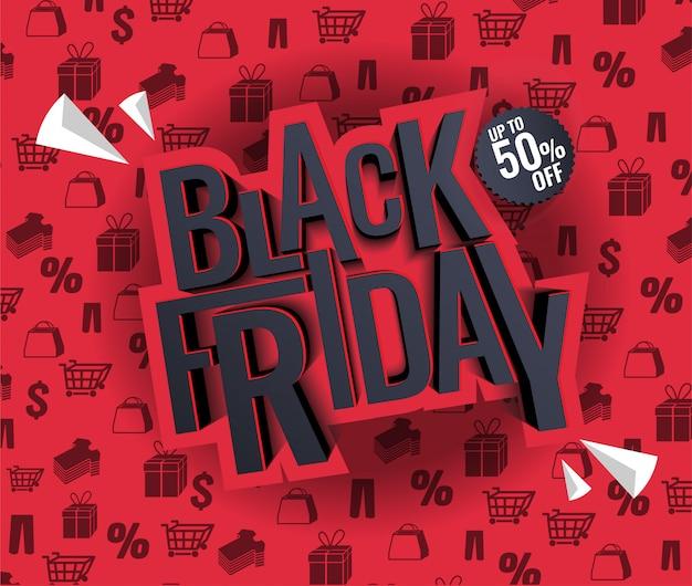 Ilustración de venta de viernes negro