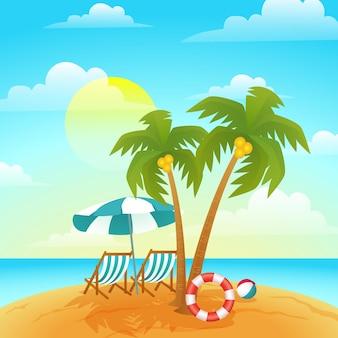 Ilustración de verano degradado