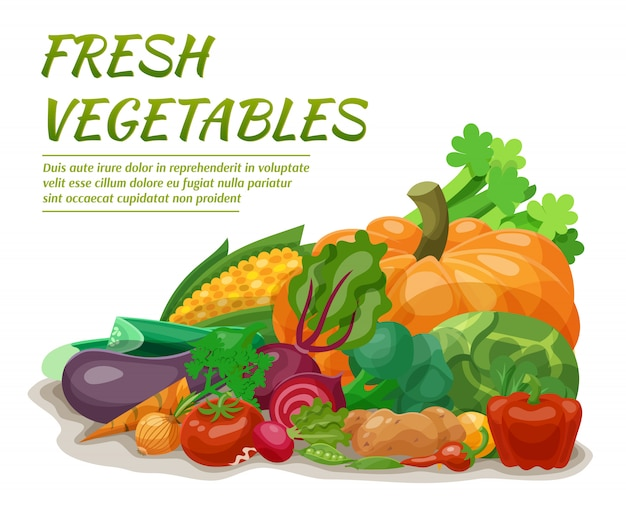 Ilustración de verduras frescas