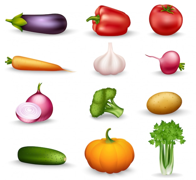 Ilustración de verduras saludables