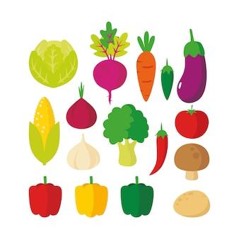 Ilustración de verduras