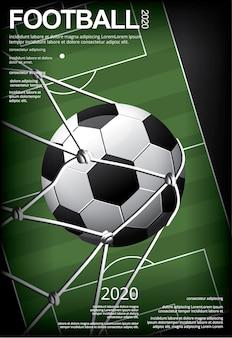 Ilustración de vestor de cartel de fútbol soccer