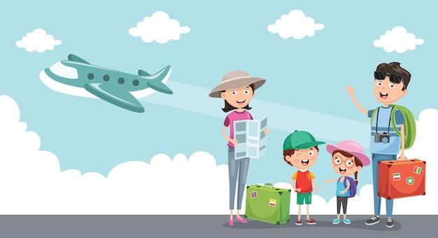 Ilustración de viajar