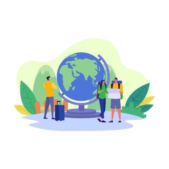 Ilustración de viajes y turismo