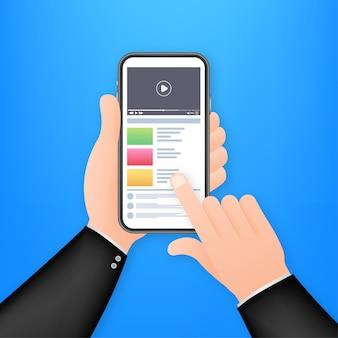 Ilustración de video smartphone
