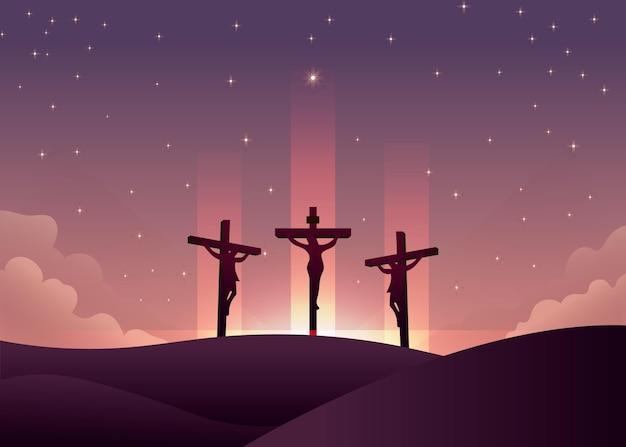 Ilustración de viernes santo degradado