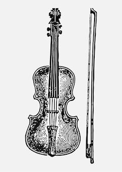 Ilustración de violín vintage