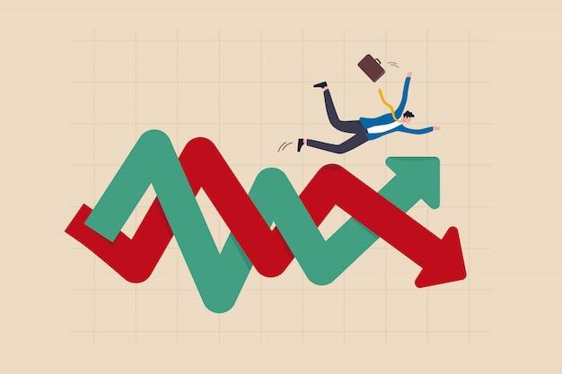 Ilustración de volatilidad de inversión financiera