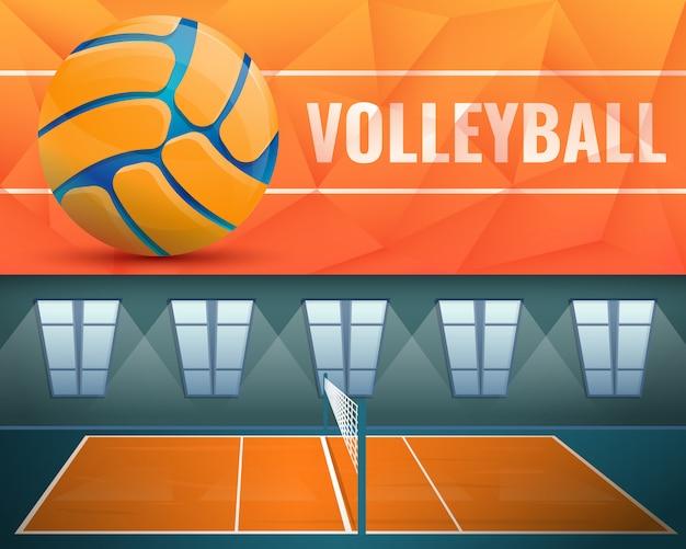 Ilustración de voleibol en estilo de dibujos animados