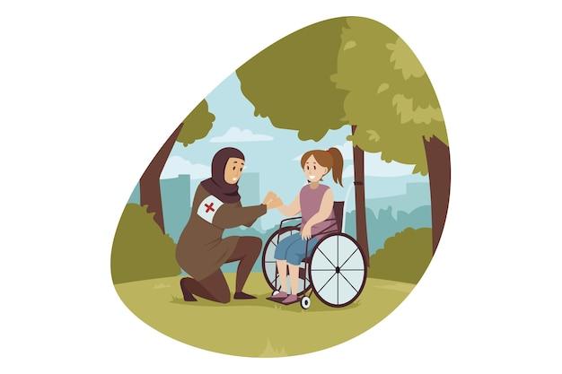 Ilustración de voluntariado