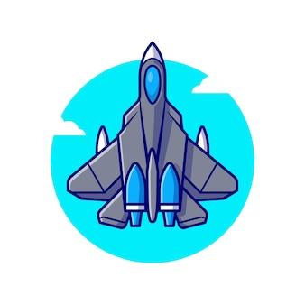 Ilustración de vuelo de avión de combate jet