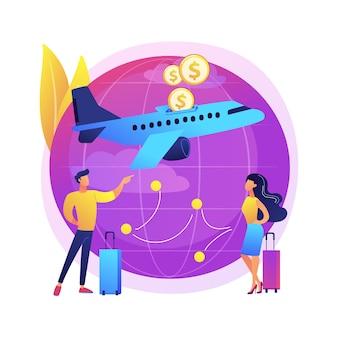 Ilustración de vuelos de bajo costo
