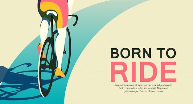 Ilustración web elegir la mejor bicicleta para tu estilo de vida. ciclismo. bycycle