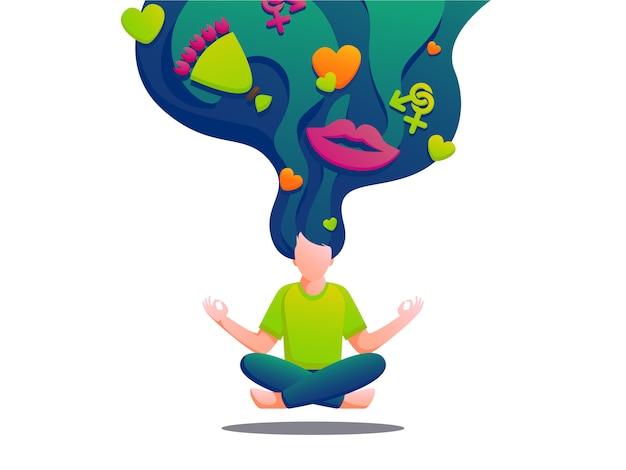 Ilustración de yoga