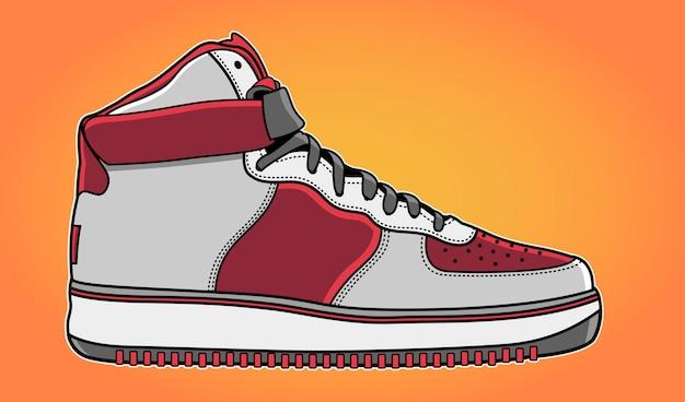 Ilustración de zapatillas de moda