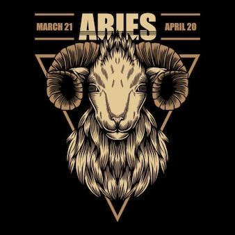 Ilustración del zodiaco aries