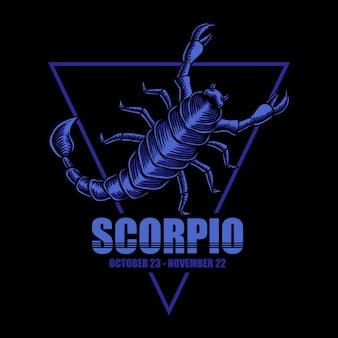 Ilustración del zodiaco del escorpión