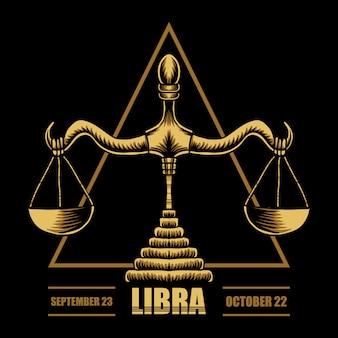 Ilustración del zodiaco libra