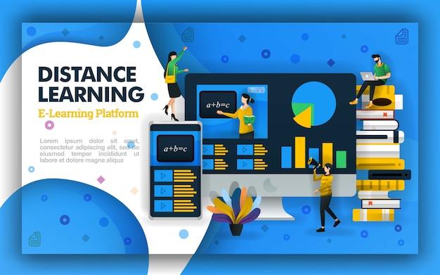 Ilustraciones para el aprendizaje a distancia y la educación