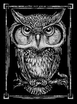 Ilustraciones de la camiseta del búho