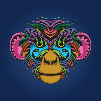 Ilustraciones de colores mono