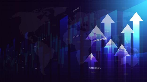 Las ilustraciones comerciales de flechas que suben están aumentando.