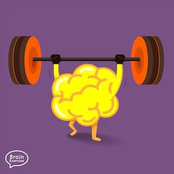 Ilustraciones concepto cerebro fitness