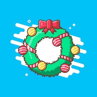 Ilustraciones de corona de navidad.