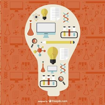 Ilustraciones de creatividad y ciencia