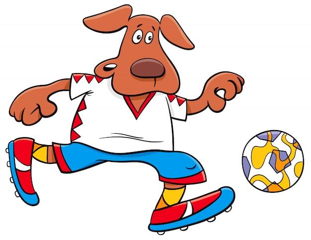 Ilustraciones de dibujos animados de fútbol de perros