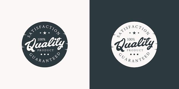 Ilustraciones de diseño de sello de logotipo de calidad