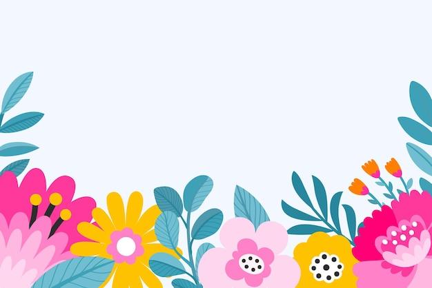 Ilustraciones florales coloridas