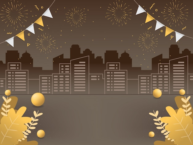 Ilustraciones de fondo de año nuevo