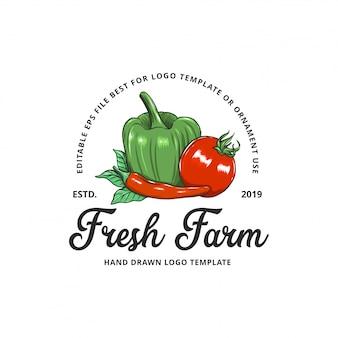 Ilustraciones de granja de vegetales