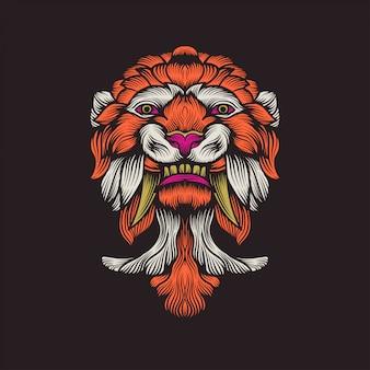 Ilustraciones de ilustración de máscara de tigre