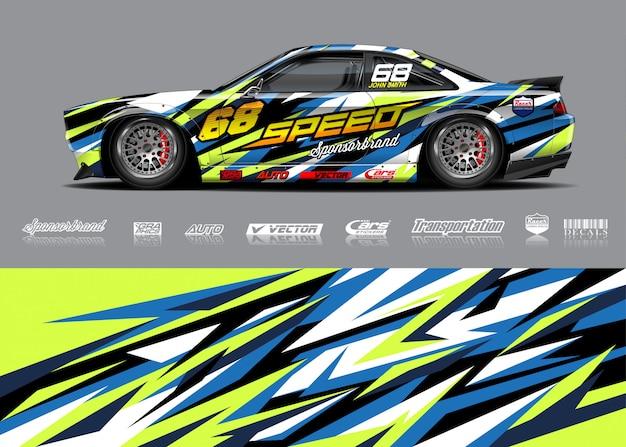 Ilustraciones de librea de autos de carrera