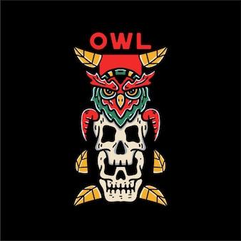 Ilustraciones de owl skull