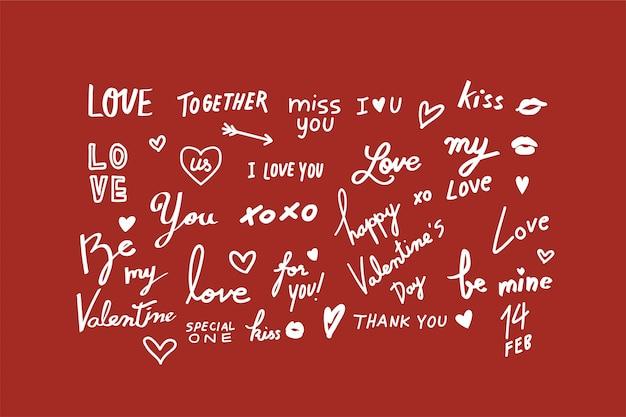 Ilustraciones de valentine