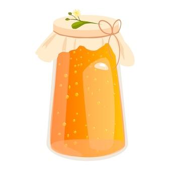 Ilustraciones de vectores de tarro de miel.