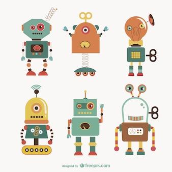 Ilustraciones vectoriales de robots
