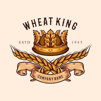 Ilustraciones de wheat king crown badge