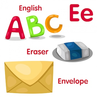 Ilustrador del alfabeto e