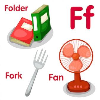 Ilustrador del alfabeto f