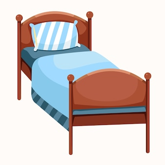 Ilustrador de cama aislado